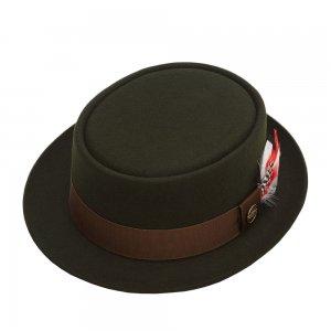 Шляпа поркпай CHRISTYS. Цвет: зеленый