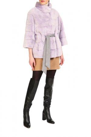 Short fur coat Manakas Frankfurt. Цвет: lilac