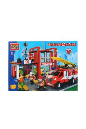 Газель с пожарной станцией Город мастеров. Цвет: красный