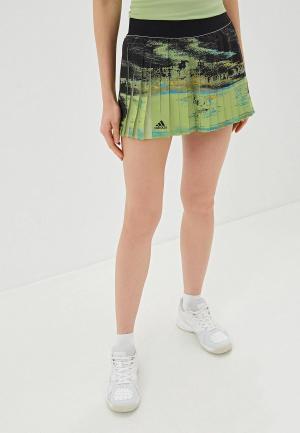 Юбка-шорты adidas NY SKIRT. Цвет: зеленый