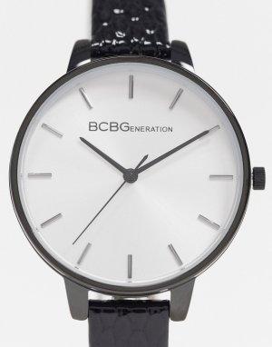 Часы с узким черным ремешком BCBG Generation-Черный цвет Max Azria