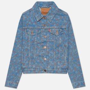 Женская джинсовая куртка Levis Original Trucker Levi's. Цвет: голубой