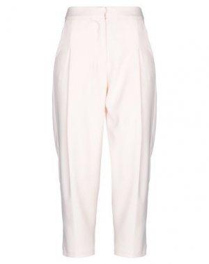 Повседневные брюки ANIYE BY. Цвет: светло-розовый