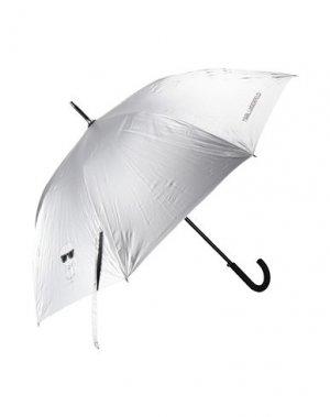 Зонт KARL LAGERFELD. Цвет: серебристый