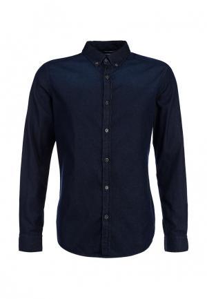 Рубашка джинсовая EDC by Esprit. Цвет: синий