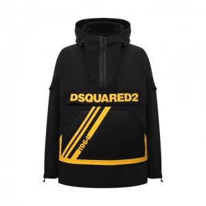 Хлопковый анорак Dsquared2. Цвет: чёрный