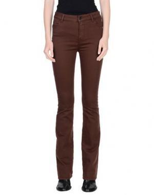 Джинсовые брюки ALYSI. Цвет: темно-коричневый