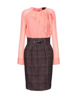 Платье до колена ATOS LOMBARDINI. Цвет: лососево-розовый