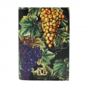 Кожаная обложка для паспорта Dolce & Gabbana. Цвет: разноцветный