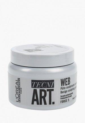 Паста для укладки LOreal Professionnel L'Oreal Tecni.Art Web создания текстуры. Цвет: серебряный