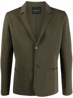 Однобортный пиджак Roberto Collina. Цвет: зеленый
