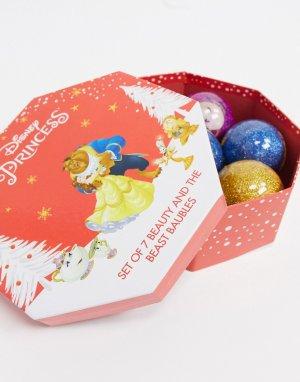 Набор из 7 новогодних игрушек «Красавица и чудовище»-Мульти Disney