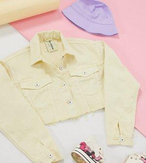 Желтая короткая джинсовая куртка COLLUSION-Желтый Collusion