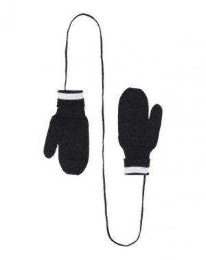 Перчатки BAND OF OUTSIDERS. Цвет: стальной серый