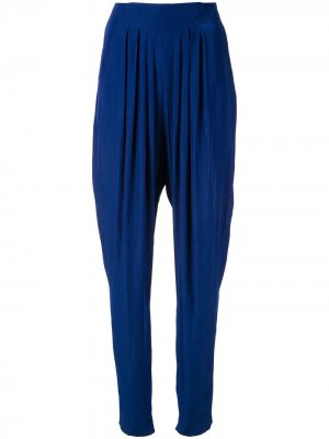 Зауженные брюки LANVIN. Цвет: синий