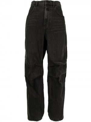 Прямые джинсы с завышенной талией Alexander Wang. Цвет: черный