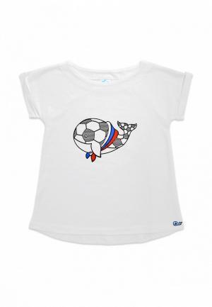 Футболка Кит. Цвет: белый