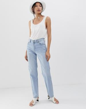 Прямые джинсы с классической талией Piper-Синий Dr Denim