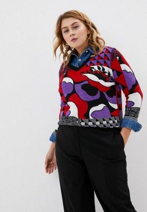Пуловер Marina Sport x Rinaldi. Цвет: разноцветный