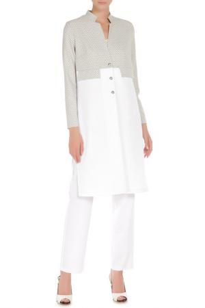 Костюм: джемпер, брюки Adzhedo. Цвет: белый, серо-белый