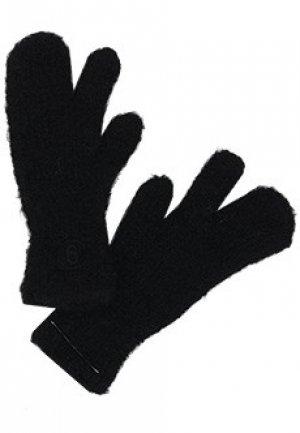 Перчатки MM6 Maison Margiela. Цвет: черный