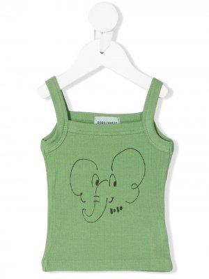 Elephant print vest Bobo Choses. Цвет: зеленый