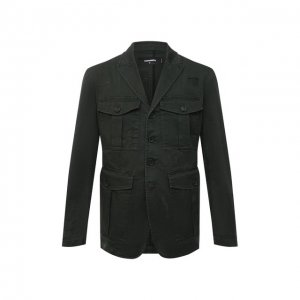 Хлопковый пиджак Dsquared2. Цвет: зелёный