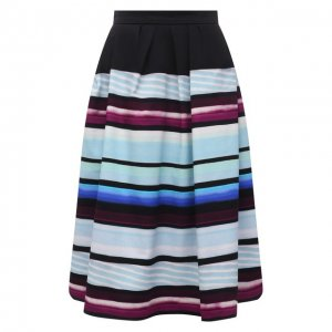 Хлопковая юбка Dries Van Noten. Цвет: синий