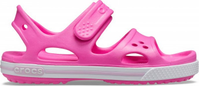 Сандалии для девочек Crocband II Sandal PS, размер 31-32 Crocs. Цвет: розовый