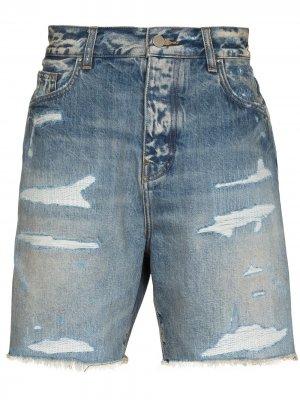 Джинсовые шорты Repair AMIRI. Цвет: синий