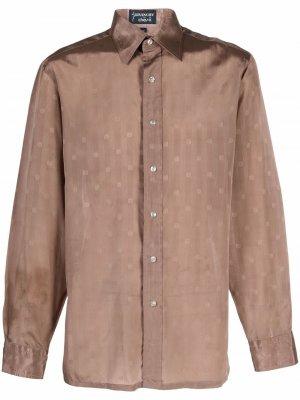 Рубашка 1970-х годов с логотипом Givenchy Pre-Owned. Цвет: коричневый