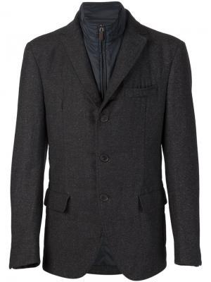 Пиджак с вставкой в виде жилета Maurizio Baldassari. Цвет: серый
