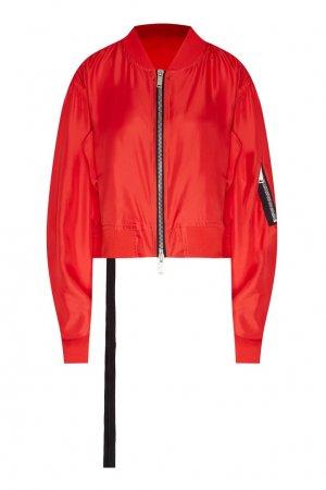 Куртка-бомбер из шелка Unravel Project. Цвет: красный