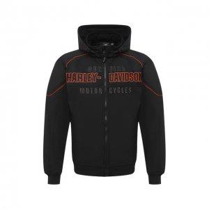 Бомбер Genuine Motorclothes Harley-Davidson. Цвет: чёрный