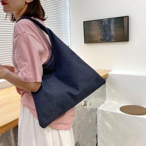 Сумка на плечо джинсовый большей емкости SHEIN. Цвет: ярко-синий