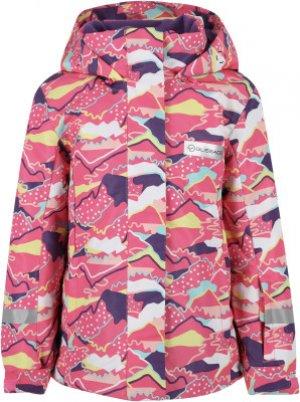 Куртка утепленная для девочек , размер 116 Glissade. Цвет: розовый