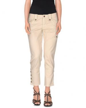 Джинсовые брюки-капри FRANKIE MORELLO. Цвет: бежевый