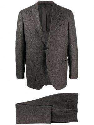 Костюм с однобортным пиджаком Kiton. Цвет: серый