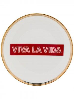 Тарелка Viva La Vida Bitossi Home. Цвет: белый