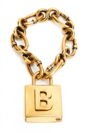 Браслет золотого цвета Lock Chain Balenciaga. Цвет: золотой