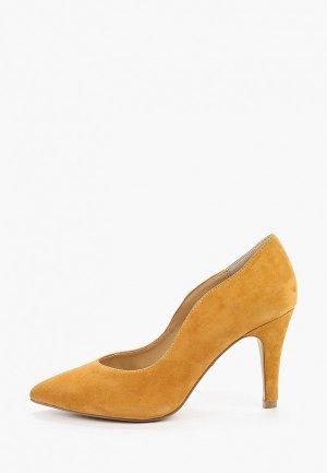 Туфли Caprice. Цвет: желтый