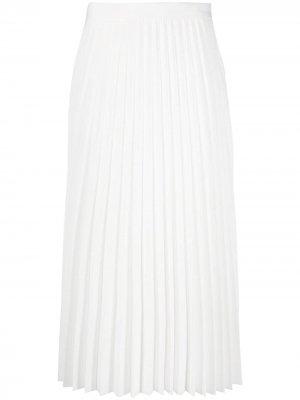 Плиссированная юбка с завышенной талией Blumarine. Цвет: белый