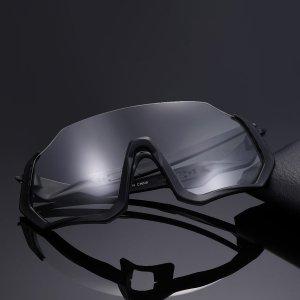 Мужские велосипедные солнцезащитные очки SHEIN. Цвет: чёрный