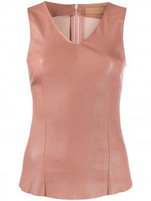 Приталенное платье миди без рукавов Drome. Цвет: розовый