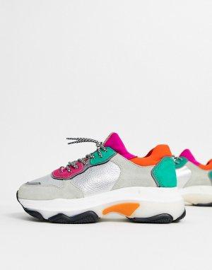 Замшевые кроссовки в стиле колор блок -Многоцветный Bronx