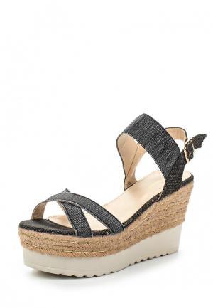Босоножки Ideal Shoes. Цвет: серый