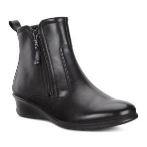 Ботинки высокие FELICIA ECCO. Цвет: черный