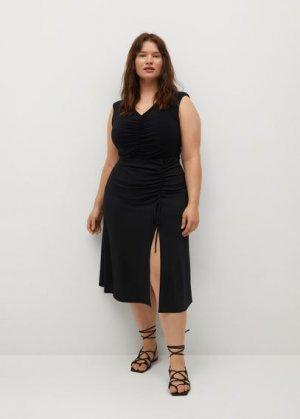 Боди со сборками - Joana Mango. Цвет: черный
