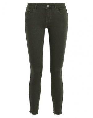 Повседневные брюки DL1961. Цвет: темно-зеленый