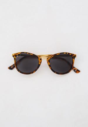 Очки солнцезащитные Jeepers Peepers. Цвет: коричневый